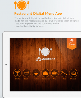 Restaurant Digital Menu iPad & Android Tablet App