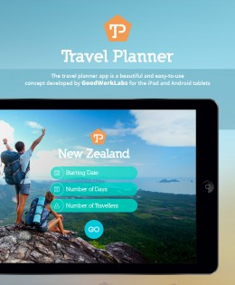 Travel Planner App for iPad & Android