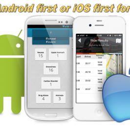 Develop mobile app first on iOS or Android?