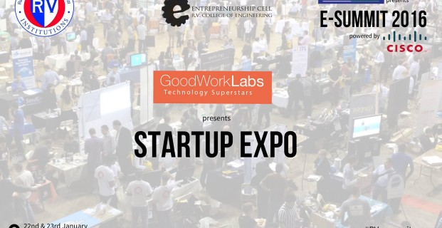 GoodWorkLabs sponsors the Startup Expo 2016 at RV College of Engineering