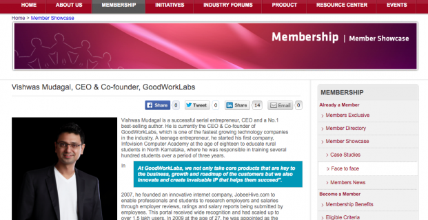 Nasscom showcases GoodWorkLabs' success story!