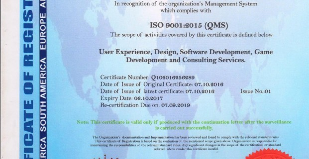 GoodWorkLabs is accredited with ISO Certification