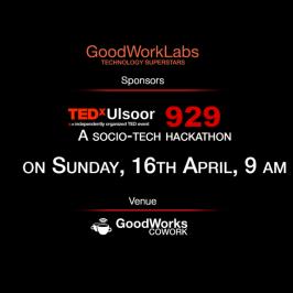 GoodWorkLabs sponsors Socio-Tech Hacakathon by TEDx Ulsoor