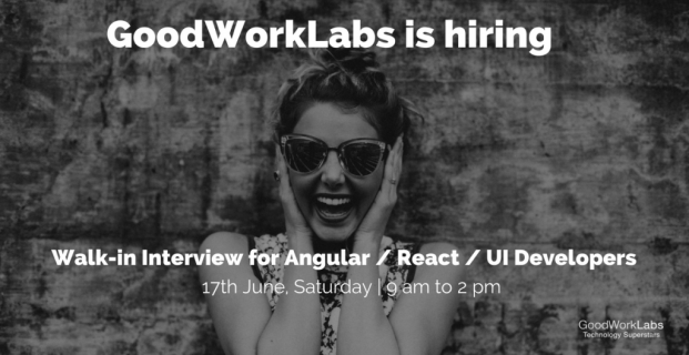 Walk-in interview for React JS / UI Developer and Angular technologies