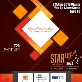 GoodWorkLabs is a key sponsor & community partner at STARup 2019