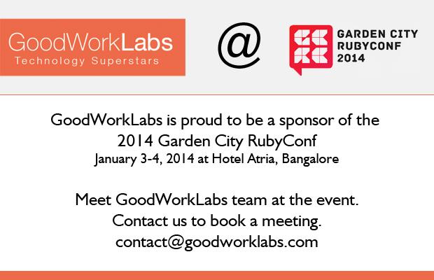 GoodWorkLabs sponsors Garden City RubyConf 2014