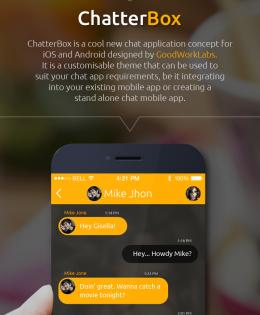 Chat Mobile Application - UX Design | GoodWorkLabs: Big Data