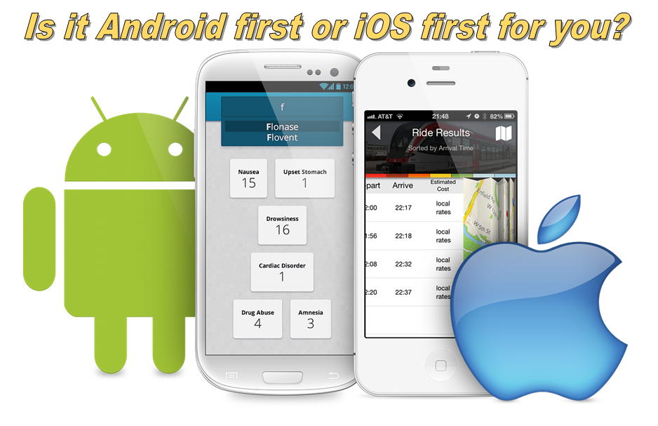 Develop mobile app first on iOS or Android