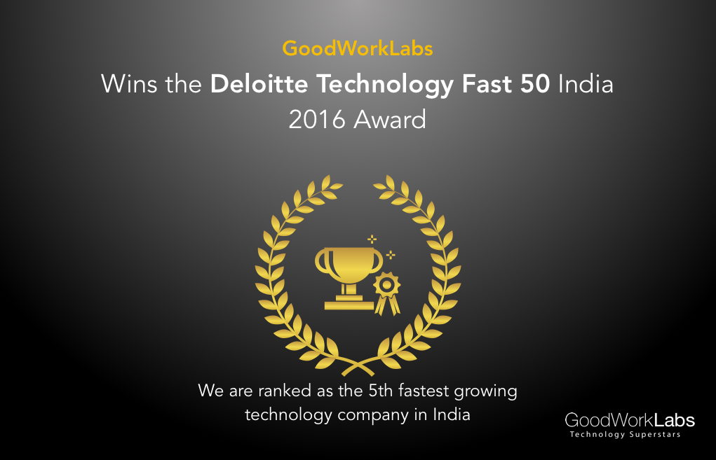 GoodworkLabs Deloitte Award