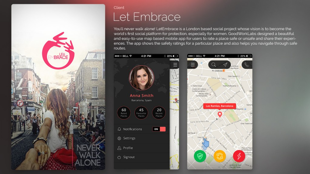 Let Embrace-Social-Safety-Mobile-App-Designed-and-developed-by-GoodWorkLabs