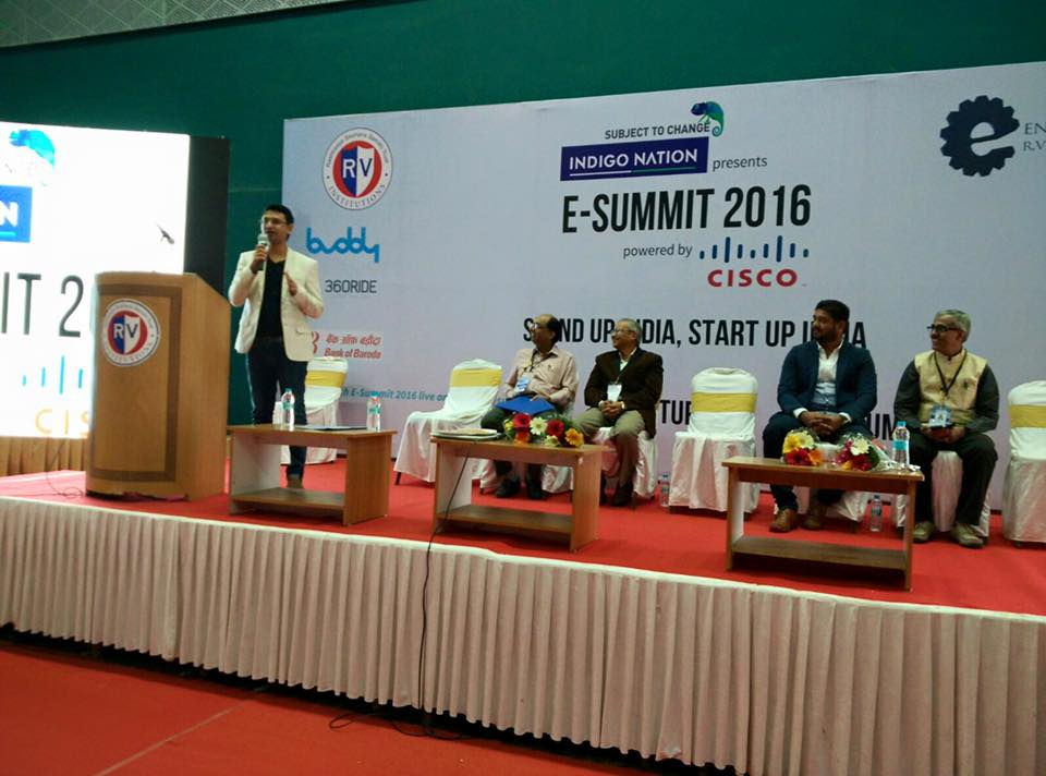 VishwasMudagal-speaking-RVCE-Entrepreneurship-summit
