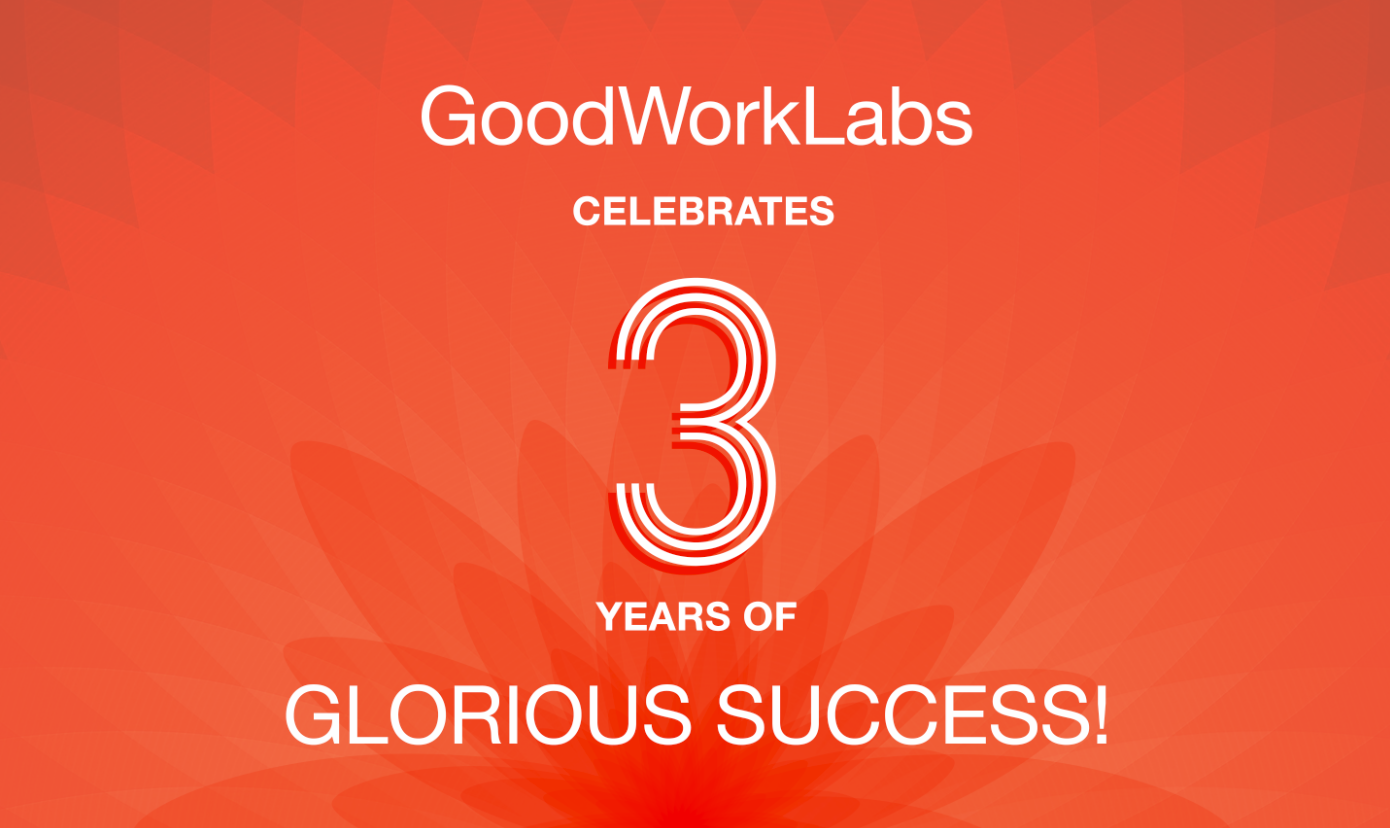 Goodworklabs Celebrates 3 Years Of Glorious Success