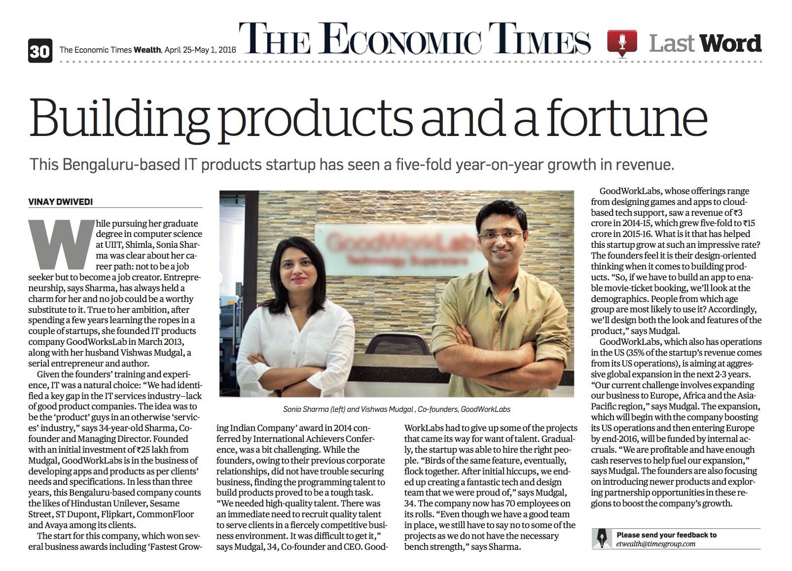 economic-times-how-goodworklabs-grew-five-times-revenue