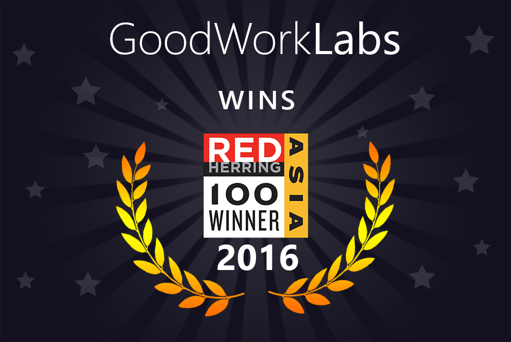 GoodWorkLabs Red Herring 2016 Winner