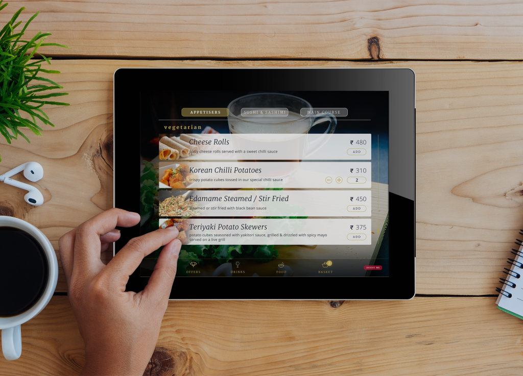 digital menu, mobility solutions for hospitality