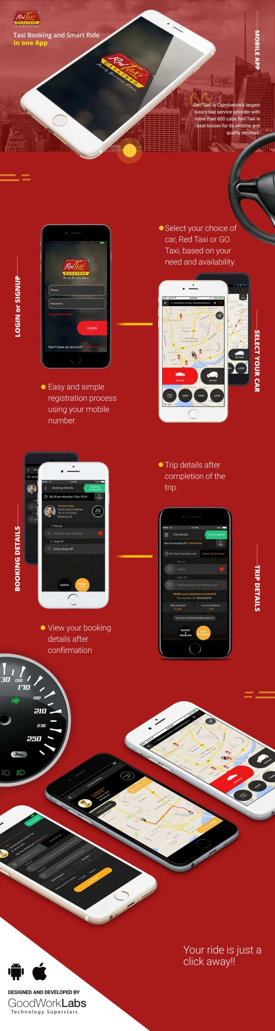 red taxi mobile app