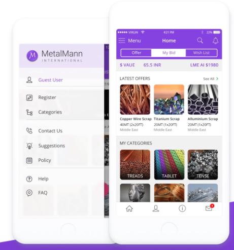 mobile app for trading