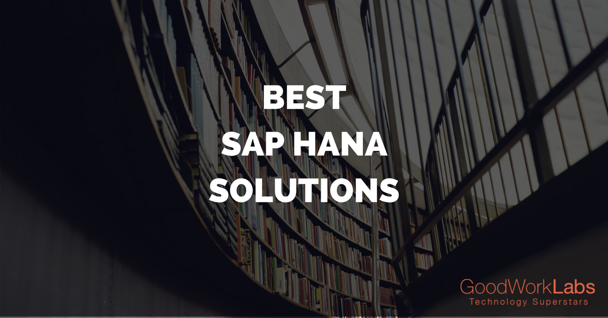 BEST SAP HANA SOLUTIONS