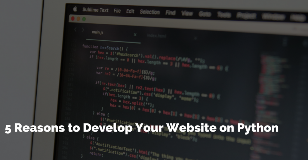 5 Reasons to Develop Your Website on Python | GoodWorkLabs