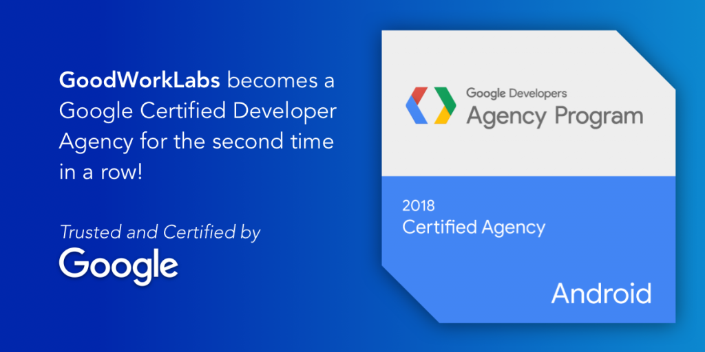 Goodworklabs Is A Google Certified Agency For The Second Time In A Row