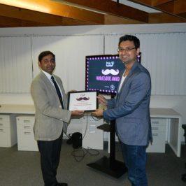 Vishwas Mudagal wins the Manambassador Award by Pink Ladder