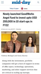 GoodWorks-angel-fund-featured-in-midday.